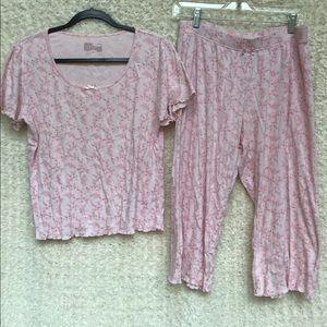 Gillian O'Malley PJ Set, Light Pink Floral, Size M